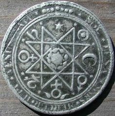 Ceremonial Magick:  A 17th-century Rosicrucian alchemical medal. #Ceremonial #Magick.