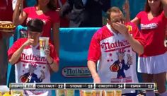 Joey Chestnut Takes Back Hot Dog Eating Title, Sets Record [VIDEO]