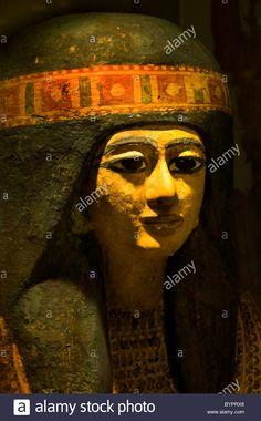Khonsuhoteb priester van farao Horemheb 1319 BC coffin Thebe 975 BC Egypt Egyptian Sarcophagus Stock Photo