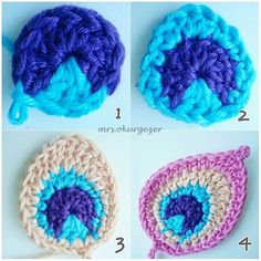 Ravelry project gallery for peacock feather java motif pattern by christa veenstra – Artofit Appliques Au Crochet, Crochet Motifs, Freeform Crochet, Crochet Stitches, Crochet Patterns, Crochet Home, Crochet Crafts, Yarn Crafts, Crochet Projects