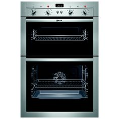 neff u15m52n3gb double electric oven stainless steel electric oven kitchens and kitchen. Black Bedroom Furniture Sets. Home Design Ideas