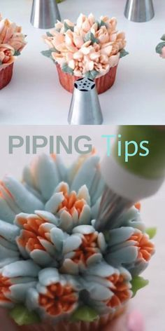 Use piping tips for beautiful cupcake decoration Video makefabulouscakes Cake Decorating Frosting, Cake Decorating Videos, Frosting Tips, Cake Decorating Techniques, Cookie Decorating, Frosting Techniques, Cupcake Decoration, Decoration Patisserie, Food Decoration