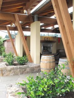 Roof and fireplace by landscape east west clackamas for Outdoor fireplace portland oregon