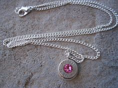 Bullet Necklace Pink by Sarahsjewelrydesigns on Etsy, $20.00