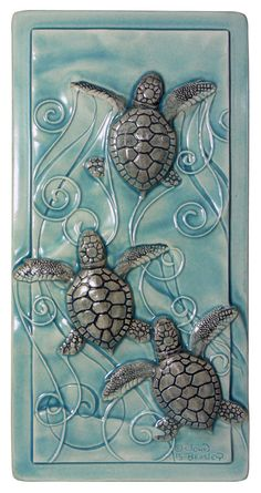Home decor art tile Magic in the Water baby by MedicineBluffStudio