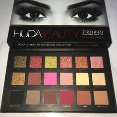 18 Colors Huda Beauty Eyeshadow Rose Gold Textured Pallete Make up Eye shadow Palette