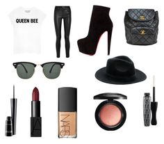 """""""Sem título #192"""" by toniagostini on Polyvore featuring moda, Queen Bee, Helmut Lang, Christian Louboutin, Chanel, MAC Cosmetics, NARS Cosmetics e Ray-Ban"""