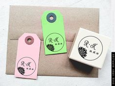 Elegant Mum Flower Custom Rubber Stamp with by OnceUponSupplies