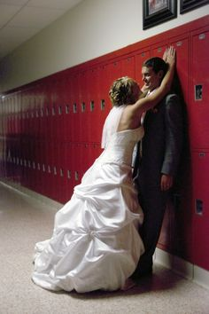 At our high school lockers-wedding