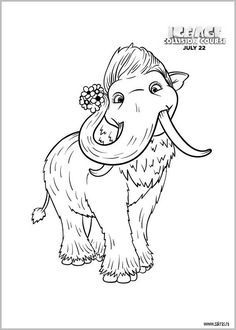 10 Best Ausmalbilder Ice Age Images Ice Age Coloring Pages Colouring Pages