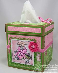 Swine Flu tissue box cover by cookiestamper - Cards and Paper Crafts at Splitcoaststampers