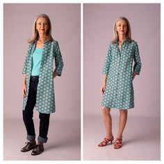 Wear me two ways - fun ways to wear these lovely limited edition handmade dresses Handmade Dresses, Duster Coat, Posts, Fun, How To Wear, Jackets, Fashion, Down Jackets, Moda