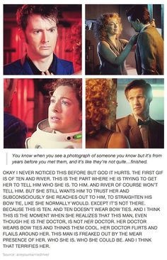 """At one point i remember her saying """"one day the doctor wont recognize who i am, and i think thats going to kill me"""" and in that 10 episode she gives up and lets herself die from the vashta nerada"""