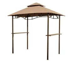 [USD $112.49]Outdoor 8ft Double-tier BBQ Grill Canopy Barbecue Tent Shelter Patio Deck Cover