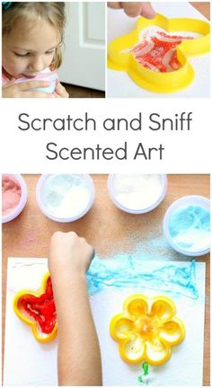 Scratch and Sniff Scented Art Activity for Kids...this would be great for an art center, after school activity for Five Senses theme