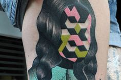Polish tattooist Marcin Aleksander Surowiec has mastered the art of neo traditional tattoos, seamlessly melding figural and abstract elements in a dazzling array of colors.His work draws inspiration from music, old cartoons, old school tattoos, plants and animals, and traditional symbols and icons.