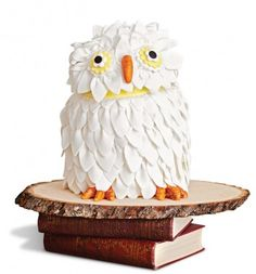 This easy-to-make cake looks just like Hedwig!   Throw a Harry Potter Party - Parenting.com