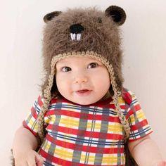 Baby Beaver Baby and Toddler Warm Animal Winter Beanie 1e3918ccbdc7