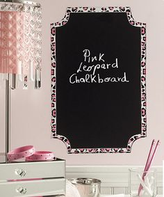 Look what I found on #zulily! Pink Leopard Chalkboard Wall Decal #zulilyfinds