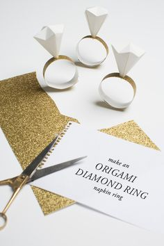 Origami diamond ring napkin rings - The House That Lars Built
