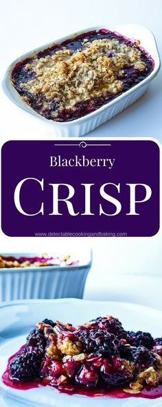 One of my favorite summertime recipes is this classic blackberry crisp recipe, it brings back memories of picking blackberries from my horse pastures... DelectableCooking... (Vegan Pie Blackberry)