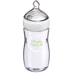 NUK Simply Natural Baby Bottle, 9oz, 1-Pack