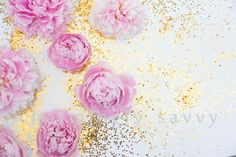 Styled Stock Photography | Peonies | Gold Glitter | Pink Floral Styled stock | Product Background | Product Photography | Digital Image by charminglysavvy on Etsy