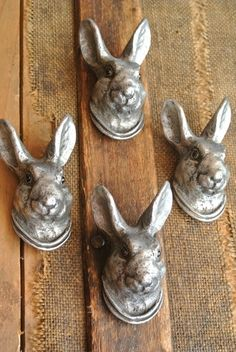 PERFECT for us! We are rabbit freaks.  #lagomorphs  Hare drawer pulls