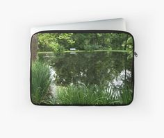 Laptop Sleeve - At the pond from A Gardener's Notebook by Douglas E.  Welch