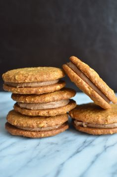 Playing with Flour: Peanut butter sandwich cookies