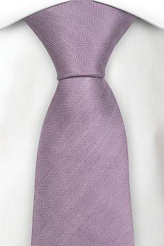 Linen necktie - Lilac purple herringbone pattern - Notch GALILEO
