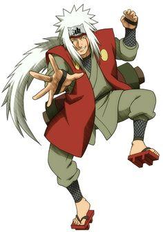 Jiraiya junto con Tsunade y Orochimaru, son conocidos como los tres ninjas legendarios o sannin, título que les dio el líder de Amegakure, Hanzou de la Salamandra, quién los dejó vivir al haber soportado demasiado una batalla contra él.