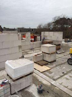 Voortgang bouw Koningskaars te Schiermonnikoog - 26 januari 2016