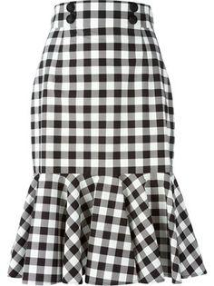 Check Ruffle Skirt - Shuga Palace