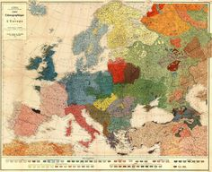 Ethnographic map of Europe 1918 (xpost r/europe) [4500x3665]