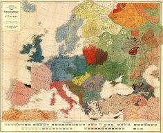 Ethnographic #map of #Europe 1918