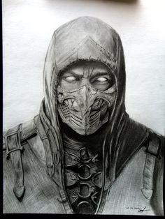 MKX Scorpion by lorandlee on DeviantArt Mortal Kombat Tattoo, Scorpion Mortal Kombat, Mortal Kombat Art, Mortal Kombat X Wallpapers, Pencil Drawings, Art Drawings, 4 Tattoo, Marvel Drawings, Video Game Art