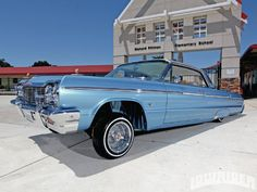 azul, 1964 Chevrolet Impala - Lowrider