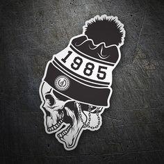 Pegatinas: Skull 1985 #coche #pegatina #sticker