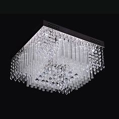 [NewYearSale]Ceiling Light LED Crystal Luxury Modern Living 16 Lights – AUD $ 168.99