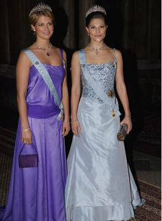 Crown princess Victoria and Princess Madelene at the Kings dinner for the Nobel laureates in 2006