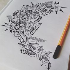 Botanical #botanical #pattern #handdrawn #handmade #drawing #draw #flowers #autumn #garden #fairy #pen #coloring #coloringbook ##rajz #relax #antistress #virág #wreath #floral #art #illustration #coloringforadults #forest #nature #publisher #design #paint