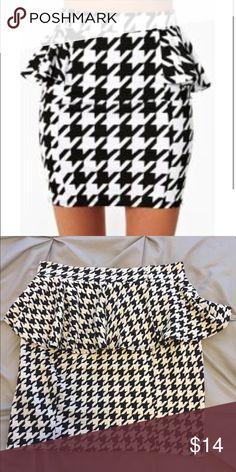 Peplum houndstooth skirt NWOT Skirts