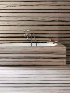 Tamsin Johnson — Peter Marino's zebra veined carrara bathroom Beautiful Bathrooms, Modern Bathroom, Marble Bathrooms, Master Bathrooms, Interior Architecture, Interior And Exterior, Zebra Bathroom, Bath Design, Bathroom Interior Design