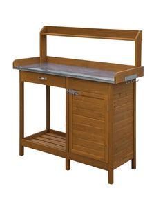 Garden Potting Bench Table Patio Outdoor Planting Cabinet Storage Drawer Shelf   eBay