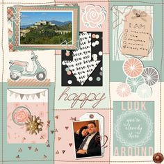 Already There: Happy by Marcy Coates using Already There digital scrapbooking & pocket scrapping kit by Scrumptiously at Pixel Scrapper