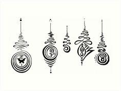 Unalome Medley Handmade Meditations - Buddhist Symbol of Enlightenment Journey by KaylaArielle