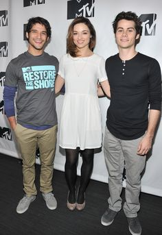 'Teen Wolf' on the Red CarpetTyler Posey, Crystal Reed and Dylan O'Brien attend MTV's 'Restore The Shore' Jersey Shore Benefit in New York City.Photo: Getty Images