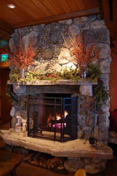 Warm up by the fireside in Maggie's Pub with a signature winter inspired cocktail created by Lori!  www.lakeplacidlodge.com