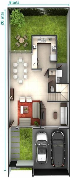 20 Best of Minimalist Houses Design [Simple, Unique, and Modern. Minimalist Home . House Layout Plans, Modern House Plans, Small House Plans, House Floor Plans, Layouts Casa, House Layouts, Minimalist House Design, Modern House Design, House Map Design